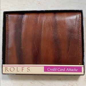 Brand new men's cowhide credit card attaché